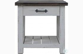Mesa Antique White End Table