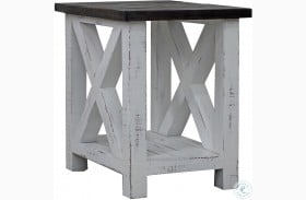 Mesa Antique White Chairside End Table