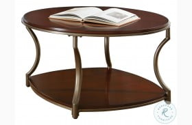 Miles Merlot Round Cocktail Table