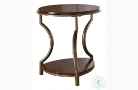 Miles Merlot Round End Table