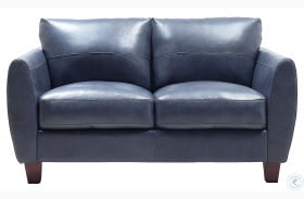 Swell Georgetowne Traverse Blue Leather Sofa From Leather Italia Andrewgaddart Wooden Chair Designs For Living Room Andrewgaddartcom