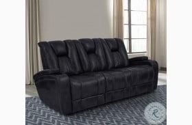 Optimus Midnight Power Reclining Sofa