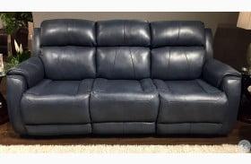 Safe Bet Ultramarine Power Headrest Reclining Sofa