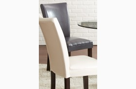 Matinee Gray Bonded Leather Chair Set of 2