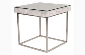 Taj Native White Wash End Table