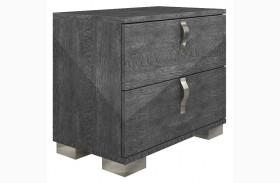 Vivente Noble Grey Birch High Gloss Nightstand