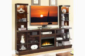 Novella Dark Chocolate Fireplace Entertainment Wall