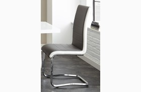 Nevada Gray and White Side Chair Set of 2