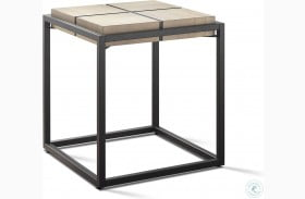Oaklee Honey And Dark Grey End Table
