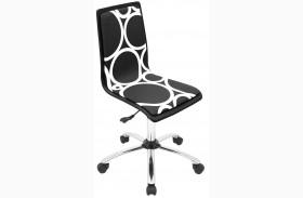 Printed Office Black Circles Chair