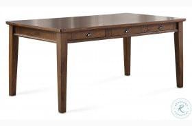 Ora Warm Walnut 6 Drawer Dining Table