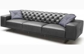 Othello Black Italian Leather Sofa