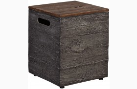Hatchlands Brown and Gray Outdoor Tank Storage Box