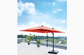 Oakengrove Coral Large Cantilever Outdoor Umbrella