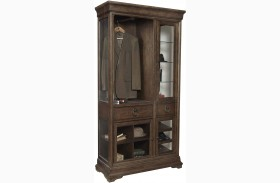 Lindale Brown Curio Armoire