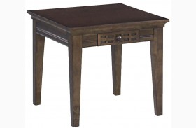 Casual Traditions Walnut End Table