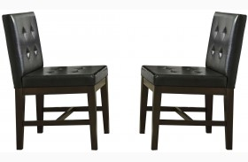 Athena Dark Chocolate Upholstered Side Chair Set of 2