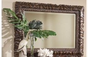 Palm Court II Coco Brown Mirror
