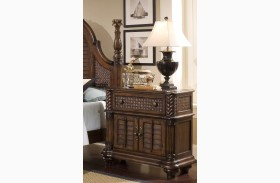 Palm Court II Coco Brown Bedside Chest