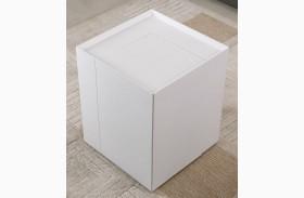 P205B White Gloss Modern End Table