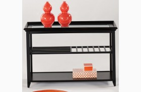Sandpiper Black Sofa/Console Table
