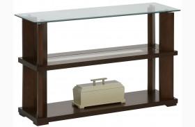 Delfino Burnished Cherry Sofa/Console Table
