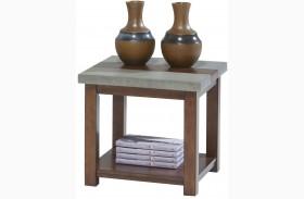 Cascade Nutmeg Birch Square Lamp Table