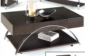Showplace Cappuccino Lift-Top Cocktail Table
