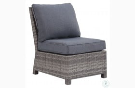 Salem Beach Gray Outdoor Armless Chair