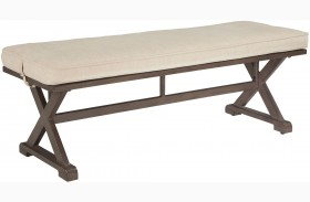 Moresdale Brown Outdoor Bench