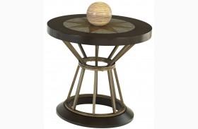 Stargaze Concrete Round End Table