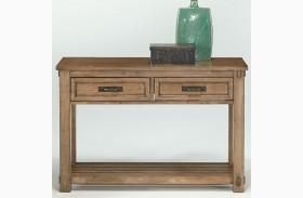 Boulder Creek Antique Pecan Sofa/Console Table