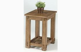 Boulder Creek Antique Pecan Chairside Table