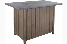 Partanna Blue and Beige Outdoor Bar Table