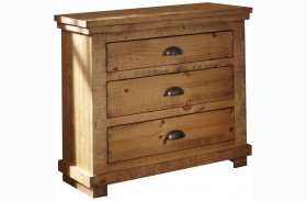 Willow Distressed Pine Nightstand