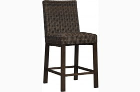 Paradise Trail Medium Brown Outdoor Bar Stool Set of 2