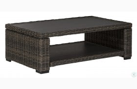 Grasson Lane Brown Outdoor Rectangular Cocktail Table