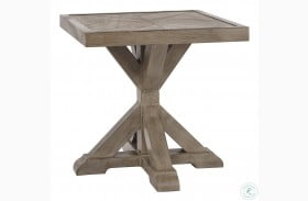 Beachcroft Beige Square Outdoor End Table