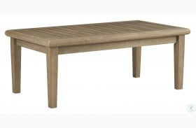 Gerianne Grayish Brown Outdoor Rectangular Cocktail Table