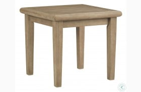 Gerianne Grayish Brown Outdoor Square End Table