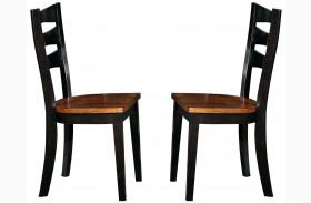 Jake Black and Dining Chair Set of 2