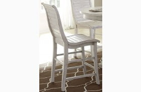 Willow Distressed White Counter Height Chair Set of 2