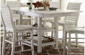 Willow Distressed White Rectangular Counter Height Dining Table