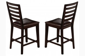 Bobbie Dark Espresso Counter Chair Set of 2