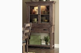 Boulder Creek Pecan Veneer Buffet with Hutch