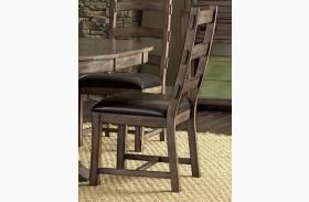 Boulder Creek Pecan Veneer Dining Chair Set of 2