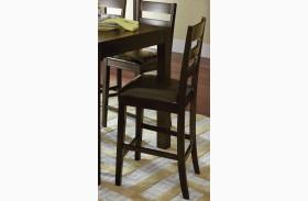 Amini Espresso Ladder Counter Chair Set of 2