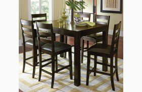 Amini Espresso Butterfly Counter Height Dining Table