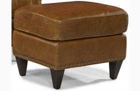 Logan Trends Coffee Leather Ottoman