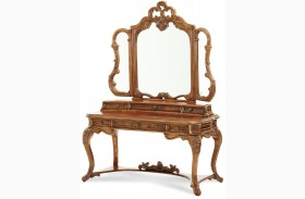 Palais Royale Vanity Writing Desk with Mirror
